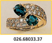 bague or saphirs et diamants