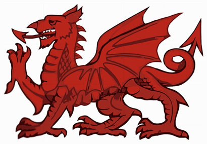 dragon rouge du Pays de Galles